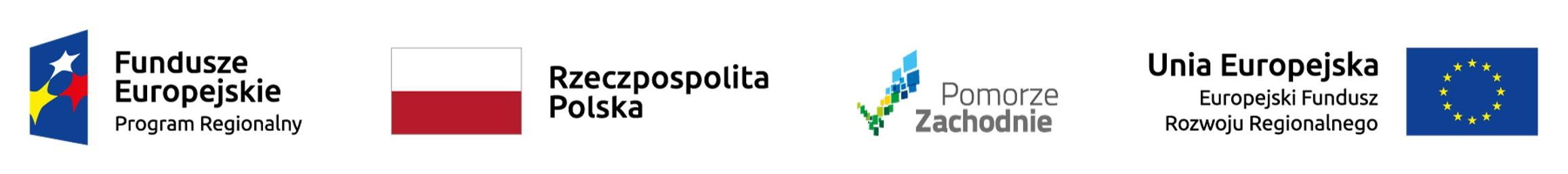"""Logotypy Województwo Zachodniopomorskie -                             Wojewódzki Urząd Pracy w Szczecinie                             realizuje projekt finansowany z Funduszy Europejskich                             """"Zachodniopomorski Pakiet Grantowy"""""""